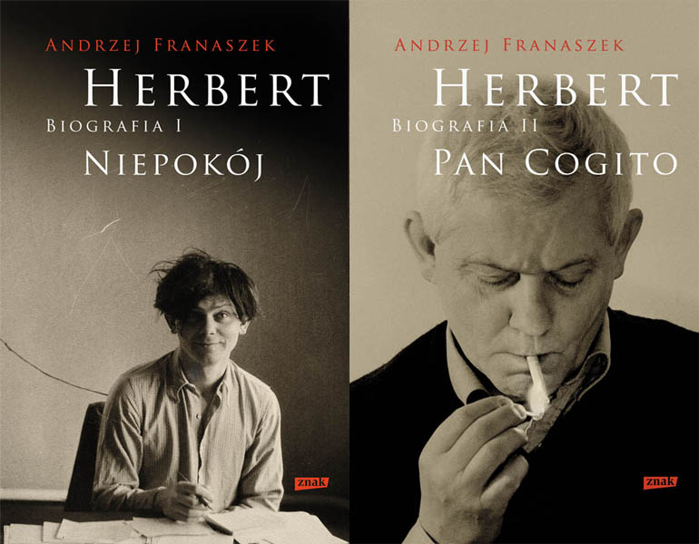Two volumes of Zbigniew Herbert's biography by A. Franaszek, photo: Znak publishing house materials
