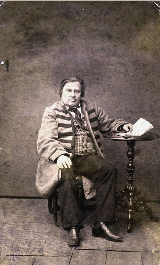Wincenty Dunin-Marcinkiewicz, the father of Belarussian literature, photographed by Antoni Prószyński