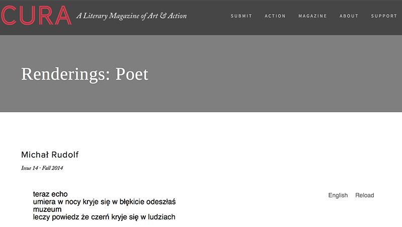 """""""Poeta"""" - Michał Rudolf http://curamag.com/issues/2014/12/3/renderings-poet"""