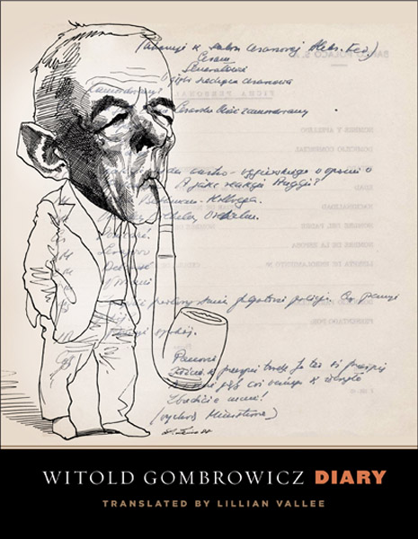 Witold Gombrowicz's Diary (cover, translated by Lillian Vallee