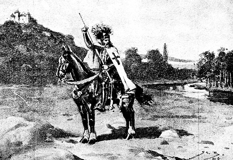 """Ilustracja z tygodnika """"Moje Pisemko"""", nr. 35-36, 09. 1914, fot. CBN Polona / www.polona.pl"""