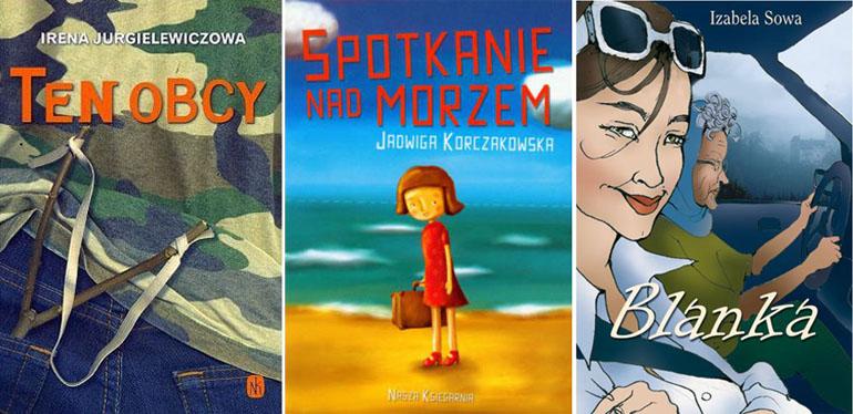 """Okładki książek """"Ten obcy"""", """"Spotkanie nad morzem"""", """"Blanka"""", fot. materiały promocyjne"""