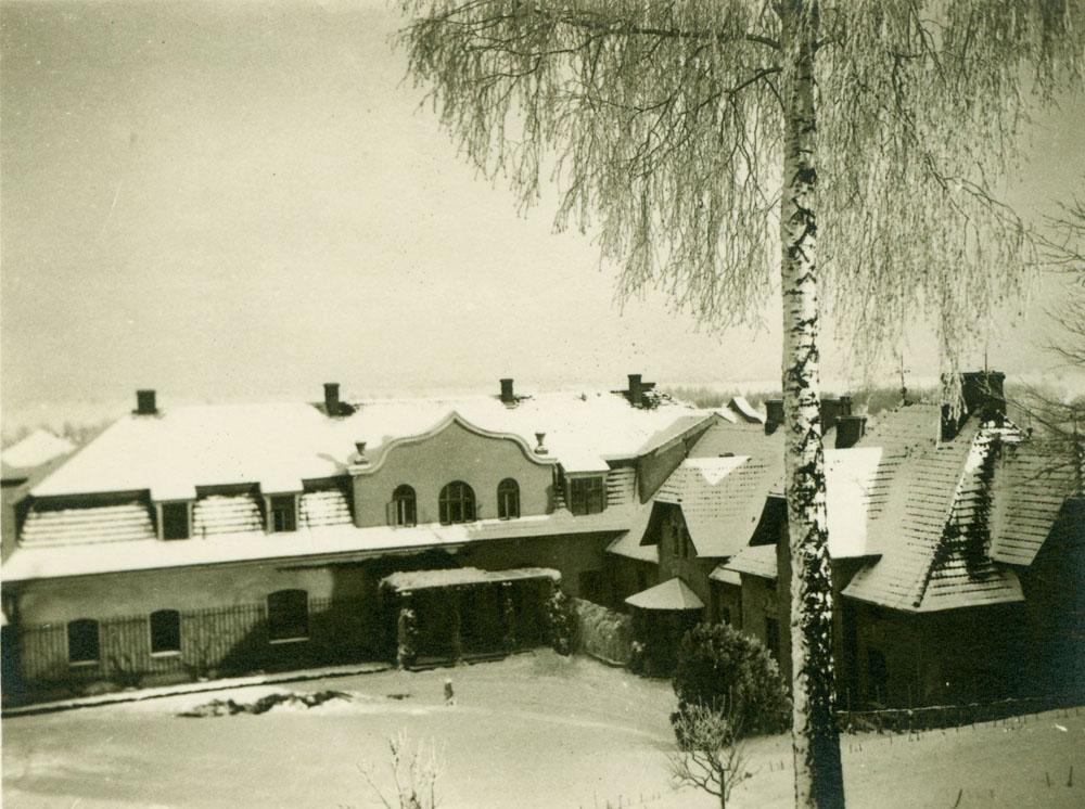 Pałac Czartoryskich w Pełkiniach od strony parku, 1928