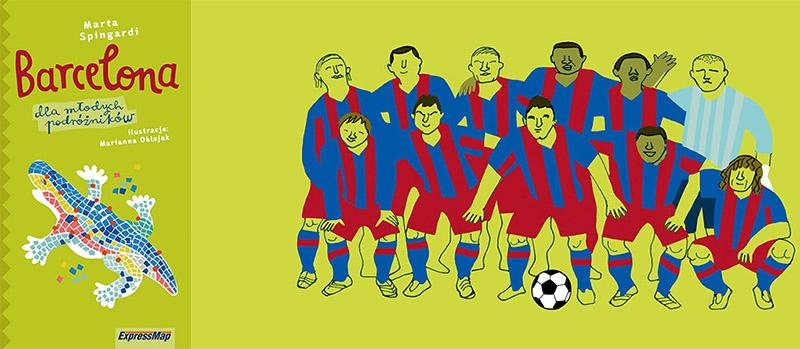 """Barcelona"", M. Spingardi/M. Oklejak,  wyd. ExpressMap"