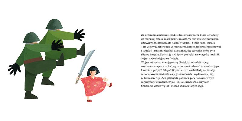 Bajka o Wojnie; illustration by Piotr Fąfrowicz