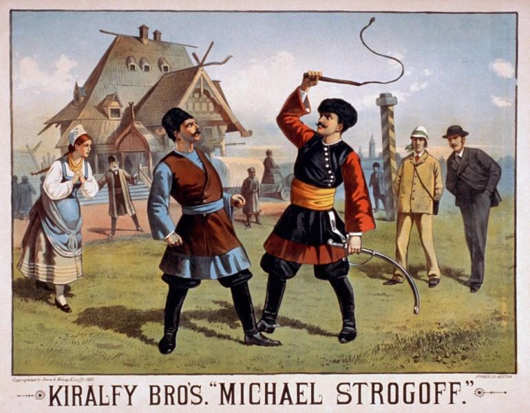 """Plakat do powieści """"Michael Strogoff: The Courier of the Czar"""",  1882, fot. fot. The Granger Collection / Forum"""