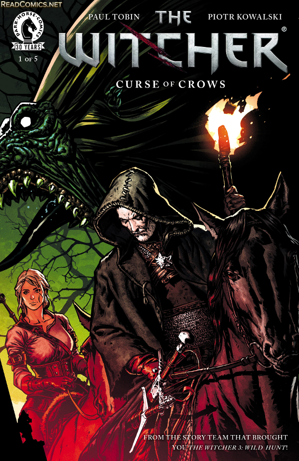 "Okładka komiksu ""The Witcher: Curse of Crows"""