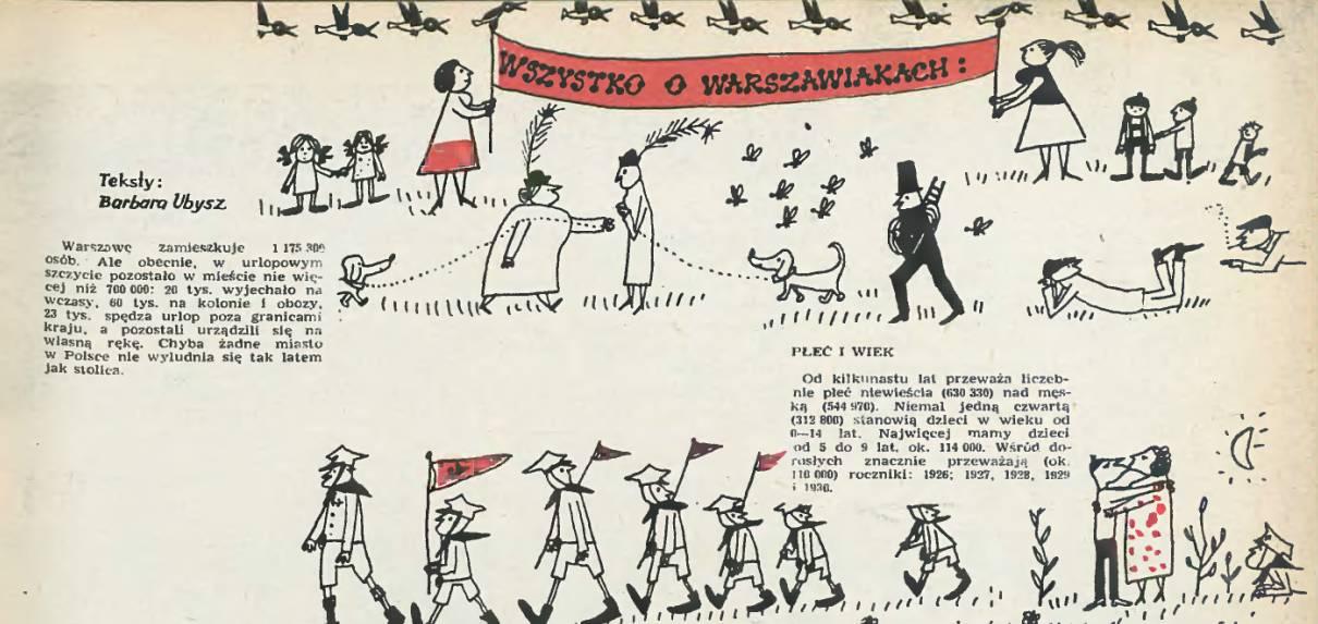 """Butenko, ilustracja w """"Stolicy"""" 1962, nr 29"""