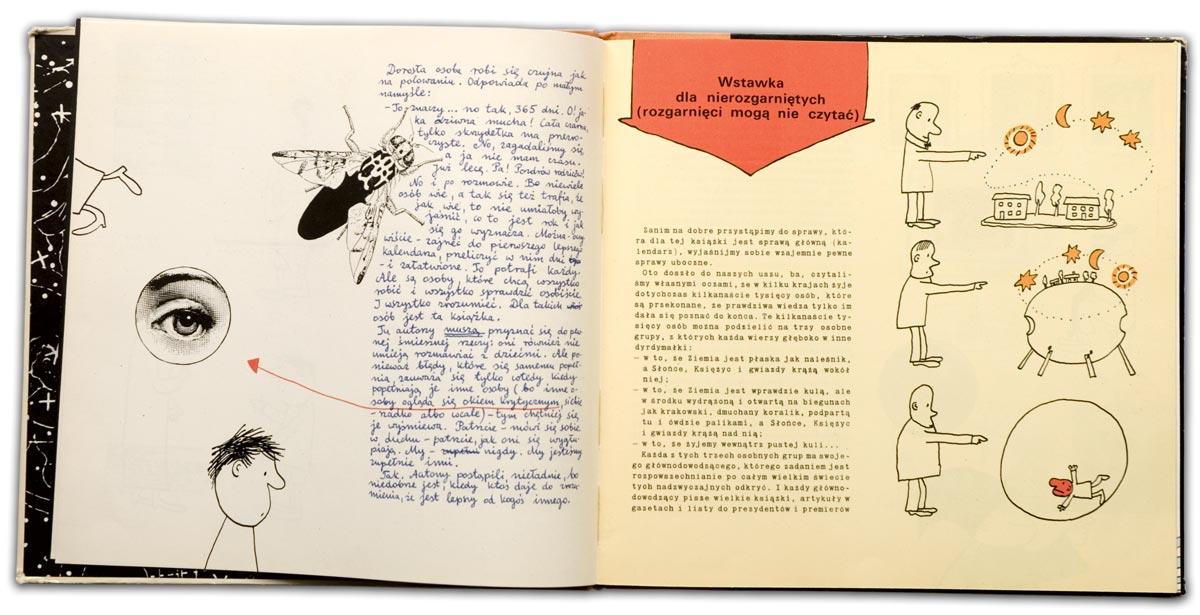 """Niebo i kalendarz"""" - tekst: Elwira Milewska, Włodzimierz Zonn; ilustracje: Bohdan Butenko"""