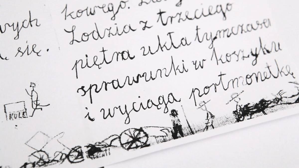 Fragment zeszytu szkolnego Bohdana Butenki