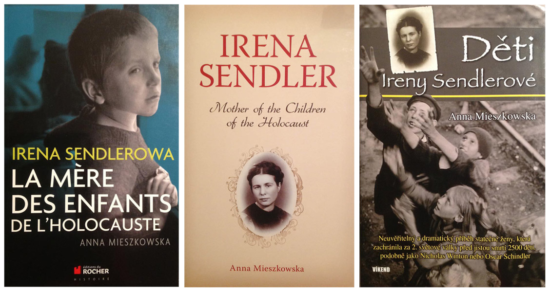 Books about Irena Sendler in different languages, photo: press materials