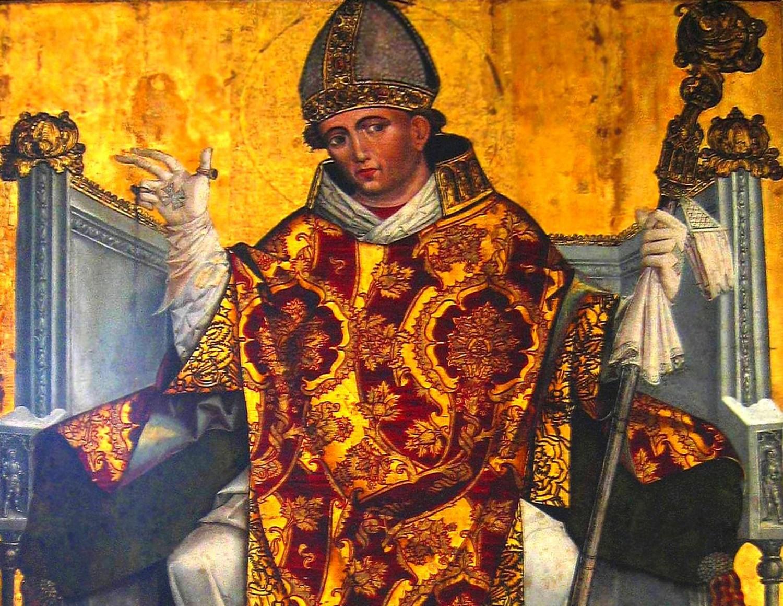 Saint Stanisław of Kraków on the painting from XVI, photo: wikipedia/lic. GNU