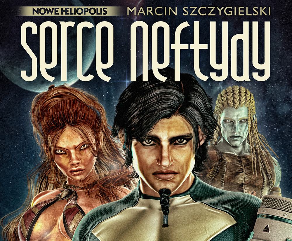 Marcin Szczygielski, Serce Neftydy (Nephthys' Heart), Latarnik Publishers, photo: press materials