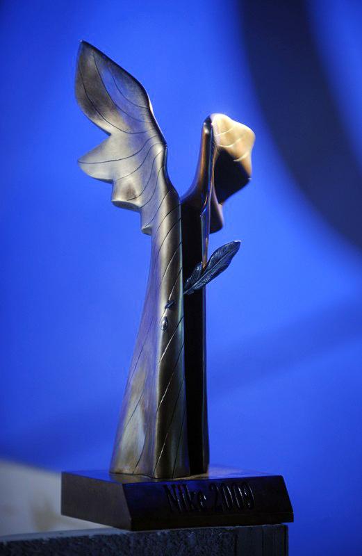 Statuetka Nagrody Literackiej Nike - fot. Donat Brykczynski / REPORTER/East News