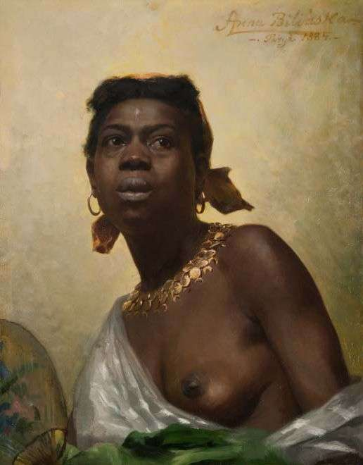 The Negress by Anna Bilińska-Bohdanowicz, 1884, oil on canvas, 64 x 50 cm, photo National Museum in Warsaw