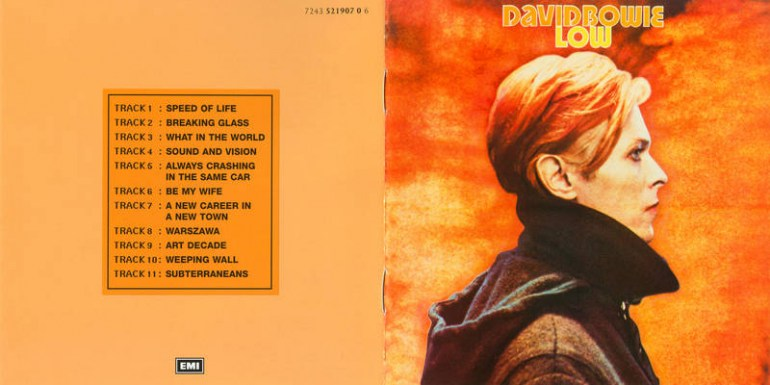 The artwork for David Bowie's album Low, 1977