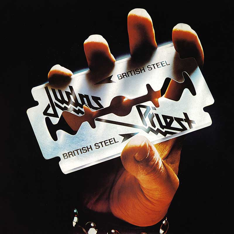 Judas Priest, British Steel, cover art: Rosław Szaybo