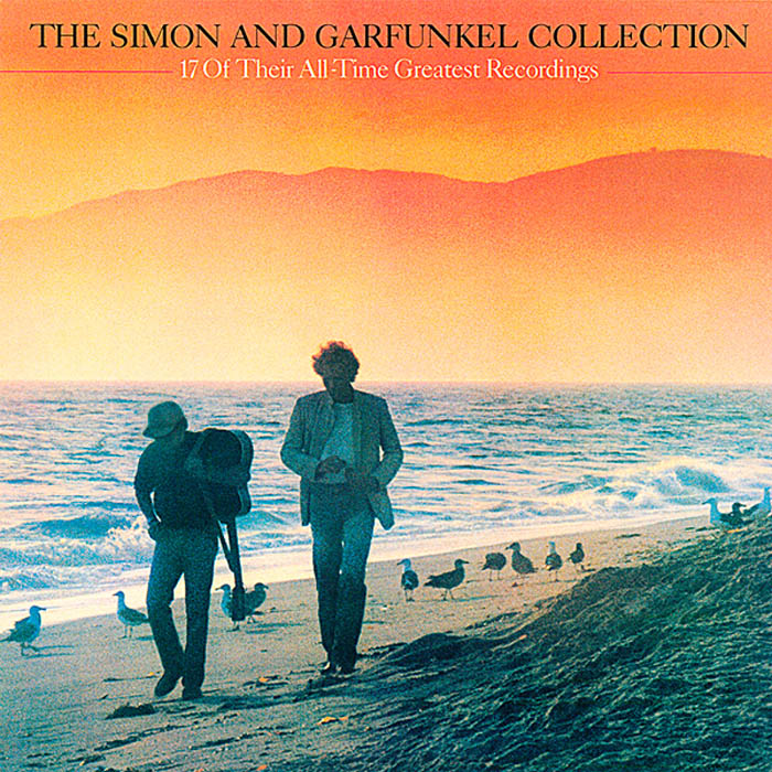 "Simon and Garfunkel, ""17 Of Their All-Time Greatest Recordings"", okładka Rosław Szaybo"