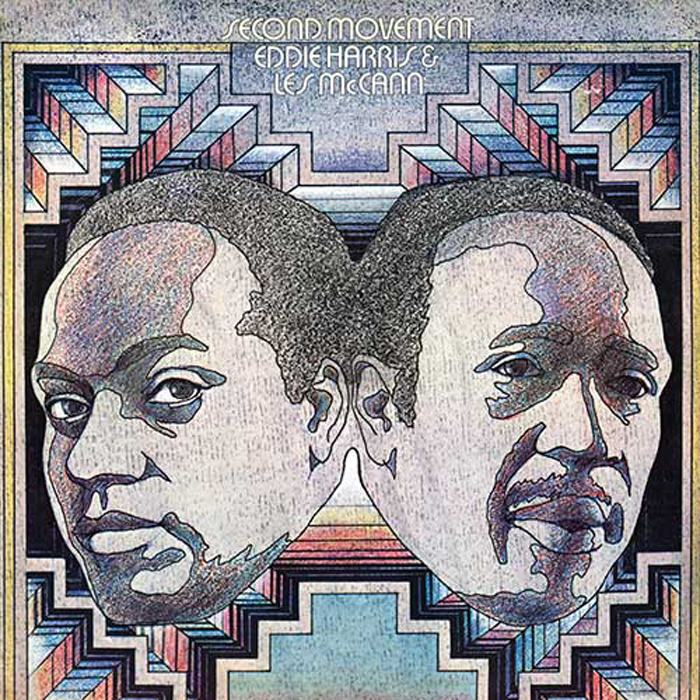 "Eddie Harris and Les McCann, ""Second-movement"", okładka Stanisław Zagórski"