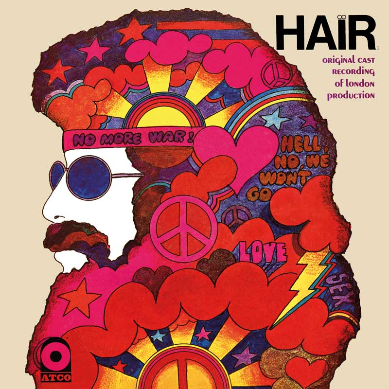 Soundtrack to the musical Hair, cover art: Stanisław Zagórski
