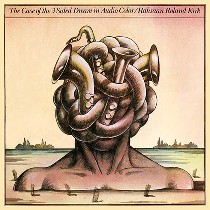 "Rahsaan Roland Kirk, ""The Case Of The 3 Sided Dream In Audio Color"", okładka Stanisław Zagórski"