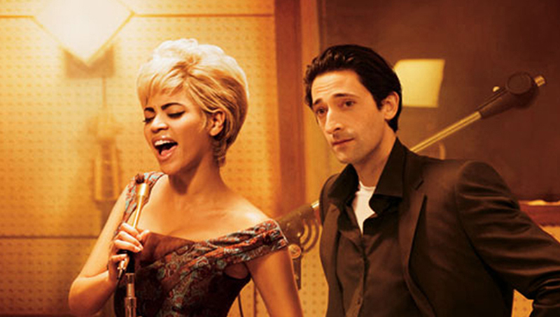 Promo image for Cadillac Records, 2008. Pictured: Adrien Brody (Leonard Chess) & Beyoncé Knowles (Etta James), photo: Sony Music Film