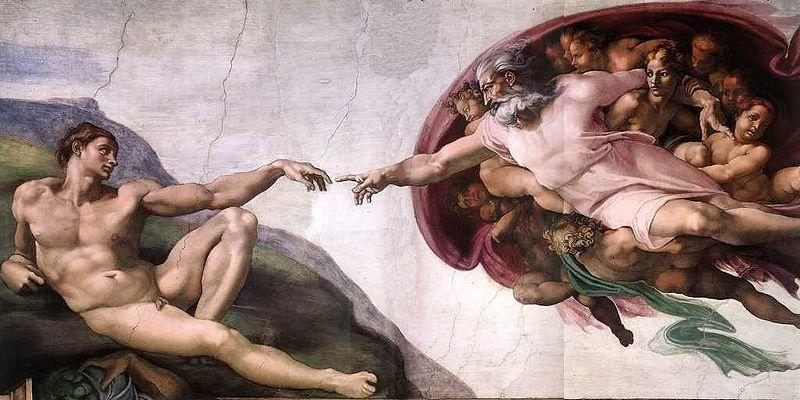 """Michał Anioł Buenarroti, """"Stworzenie Adama"""" , ok. 1511, fot. CC / Wikimedia"""