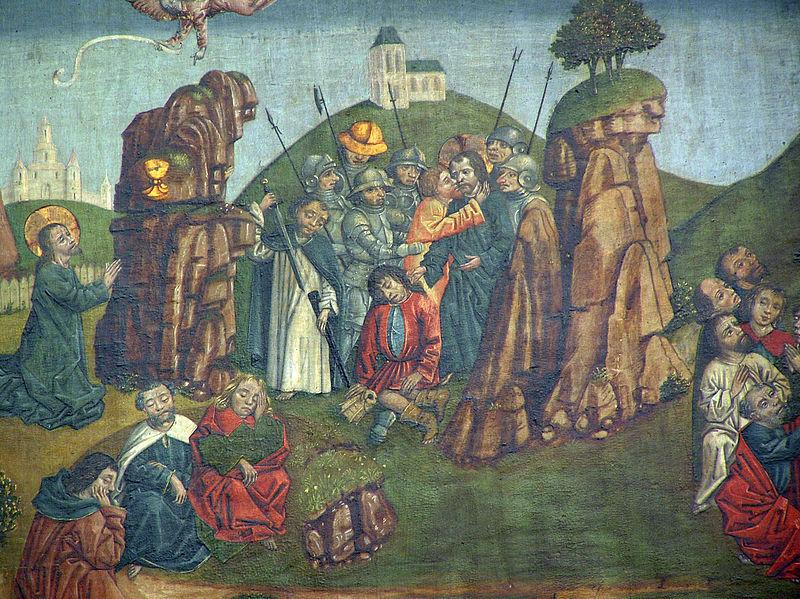 """Toruń, kościół św. Jakuba, """"Pasja"""", ok. 1480-90, fragment, fot. CC / Wikimedia"""
