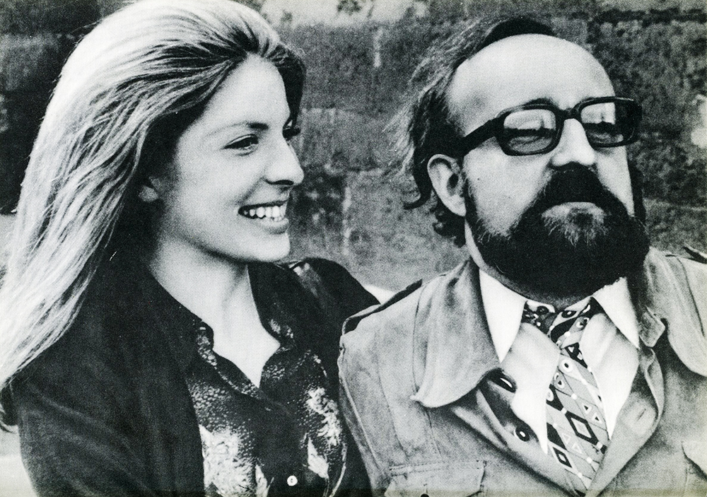 "Krzysztof Penderecki with his wife, a photograph from Ludwik Erhardt's book ""Spotkania z Krzysztofem Pendereckim"" (Meetings with Krzysztof Penderecki)"
