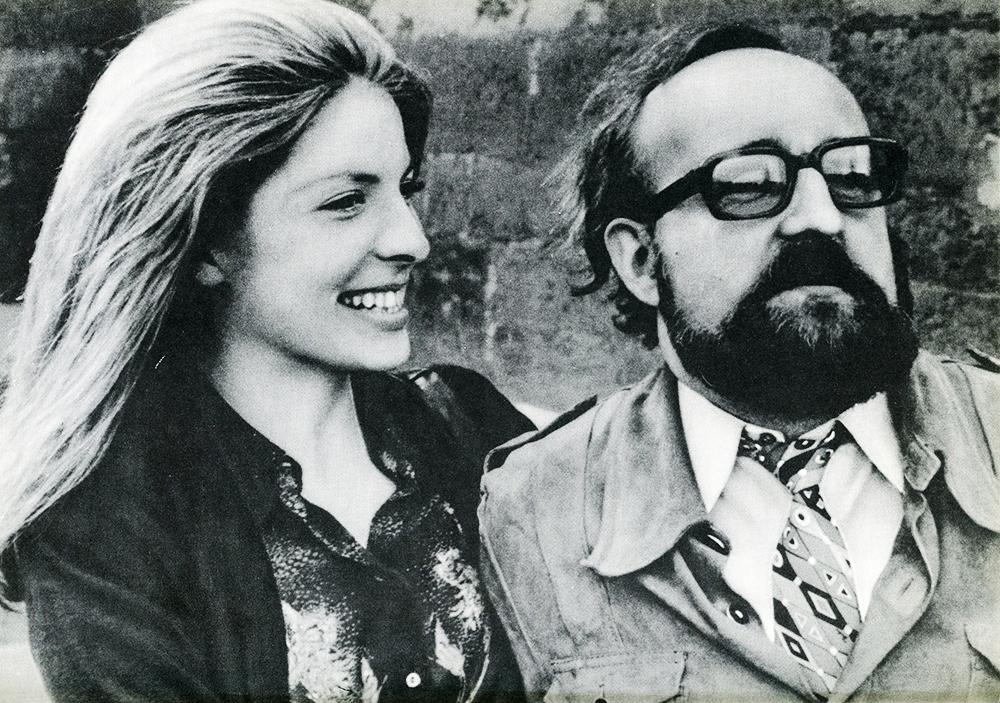 """Krzysztof Penderecki z żoną, fotografia z książki Ludwika Erhardta """"Spotkania z Krzysztofem Pendereckim"""""""
