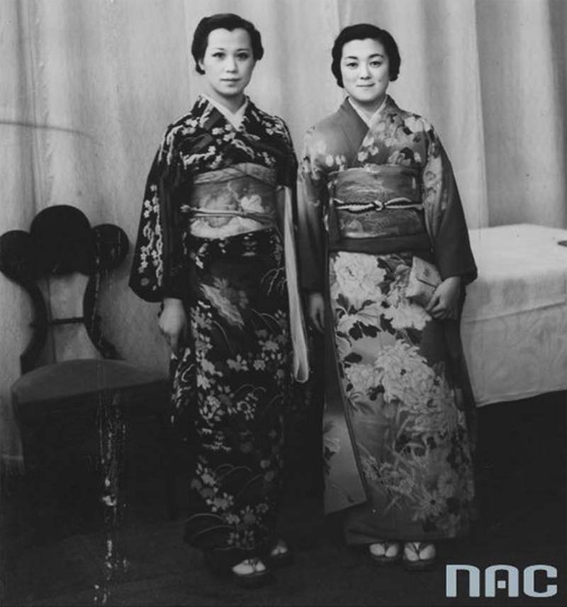 Chieko Hara and Miua Kai, Warsaw 1937. Photo: NAC / www.nac.gov.pl
