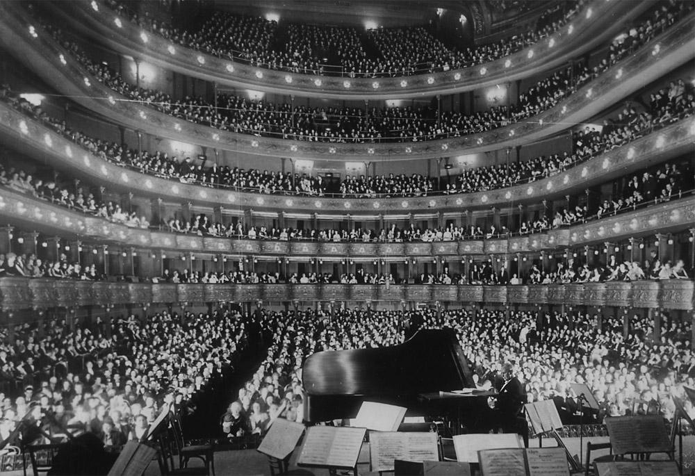 Koncert galowy pianisty i kompozytora Józefa Hofmanna w Metropolitan Opera w Nowym Jorku, photo: NAC