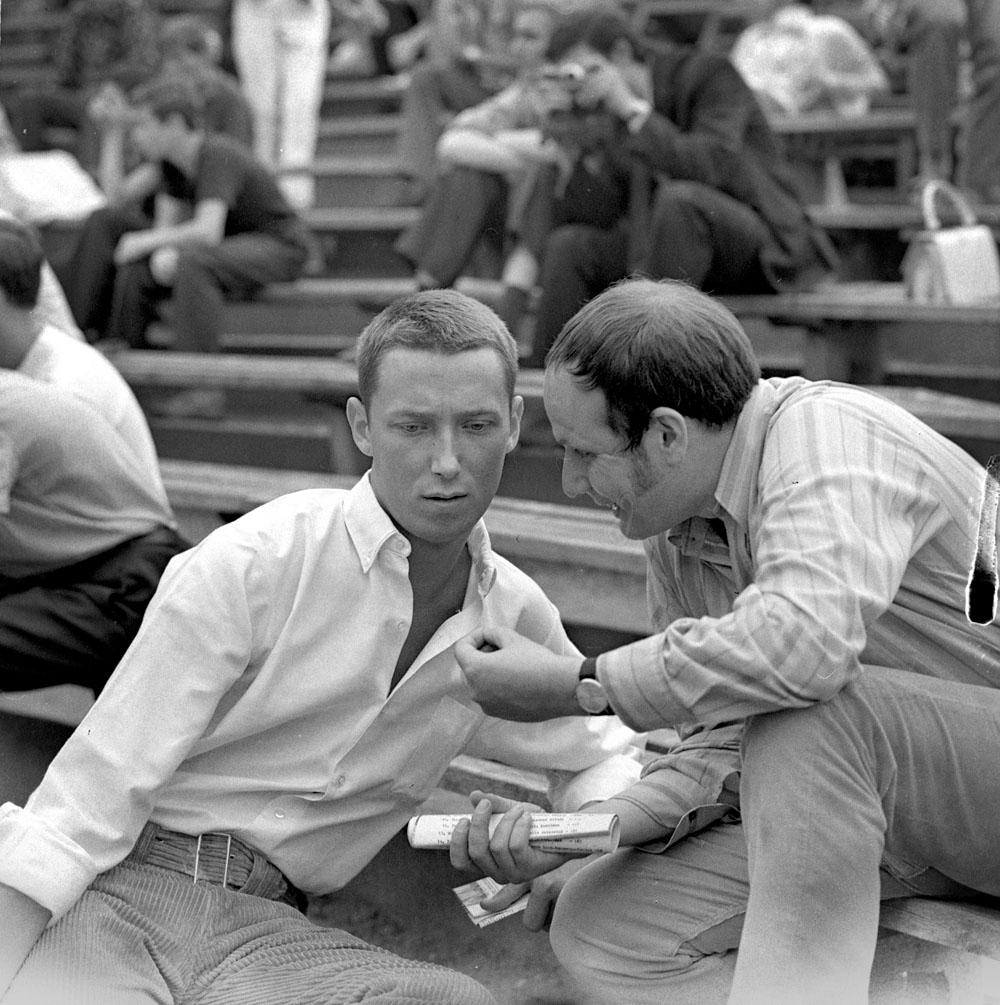 IV Krajowy Festiwal Piosenki Polskiej w Opolu, 1968, Na zdjęciu: Wojciech Młynarski i Grzegorz Lasota, fot. Jerzy Michalski / Forum