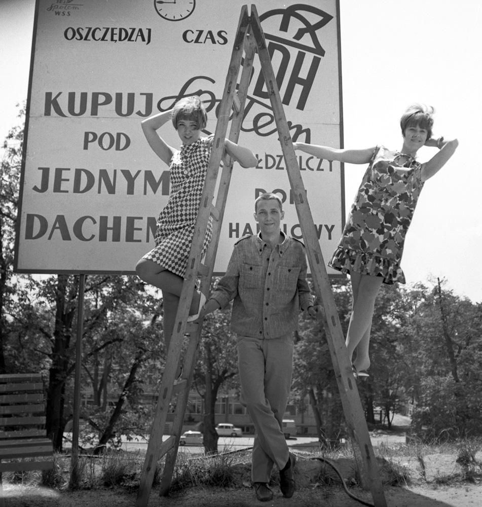 IV Krajowy Festiwal Piosenki Polskiej w Opolu, 1966, Na zdjęciu w srodku: Wojciech Młynarski, fot. Andrzej Wiernicki / Forum