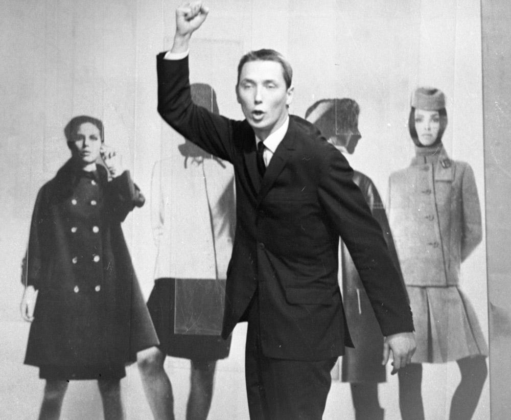 Wojciech Młynarski, Giełda Piosenki, audycja telewizyjna, 1966, fot. Jerzy Płoński / Forum