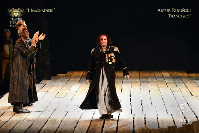Artur Ruciński w Teatro Regiio Parma, fot. dzięki uprzejmości artysty