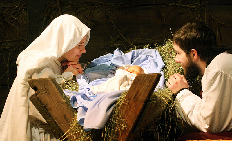 A live nativity recreation held annually by a Franciscan church, photo: Anna Kaczmarz/Dziennik Polski/Reporter