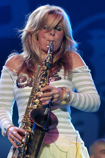 Dutch saxophonist Candy Dulfer will be the star of the first day of the festival, photo by Marek Dusza