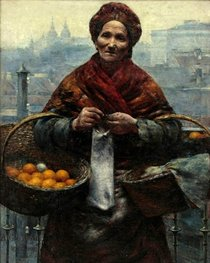 """Aleksander Gierymski, """"Jewish Woman Selling Oranges"""", 1880-1881, photograph from the internet site of the Kunst & Auktionshaus Eva Aldag in Buxtehude, Germany"""