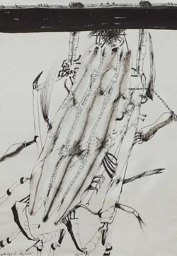Tadeusz Brzozowski, Regent dynda 1981 drawing ink, cardboard; 73x51 cm, courtesy of aTAK Gallery
