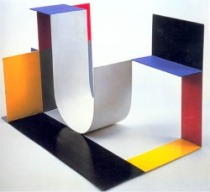 Katarzyna Kobro, Spatial Composition 4, 1929, painted steel