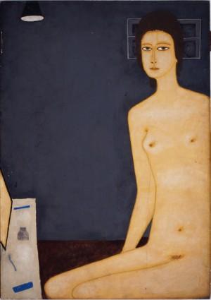 Jerzy Nowosielski, Nude - Toilet With Lamp, 1973, polymer paint, photo courtesy of the Muzeum Okręgowe in Bydgoszcz