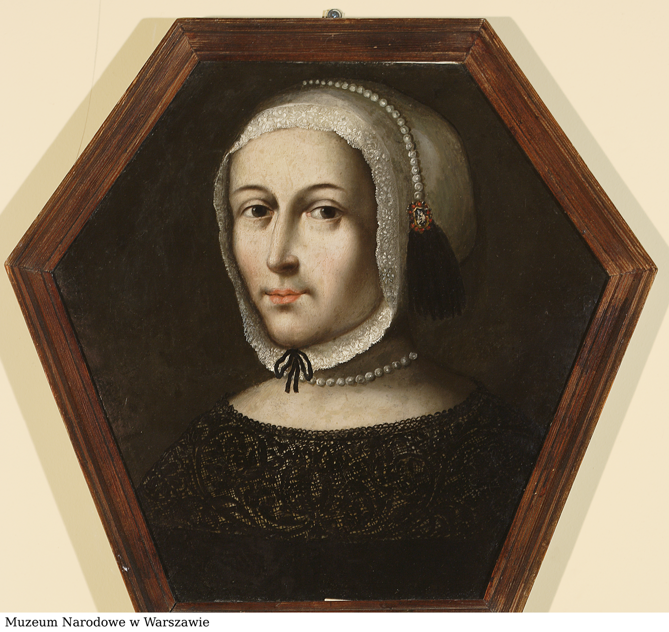 A mourning portrait of a woman in a white coif, photo: National Museum in Warsaw
