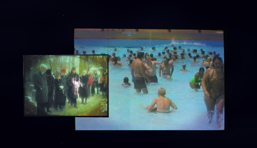 """Zuzanna Janin, """"Ceremonia i zabawy"""", 2003-2004, instalacja wideo, fot. Fundacja Sztuki Współczesnej """"In Situ"""""""