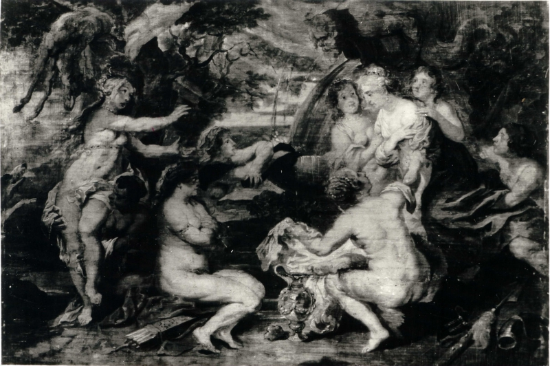 Peter Paul Rubens (1577-1640), Diana and Callisto, a sketch study for a painting, oil on wood, 23 x 34,5 cm, courtesy of the National Museum in Poznań, photo: kolekcje.mkidn.gov.pl