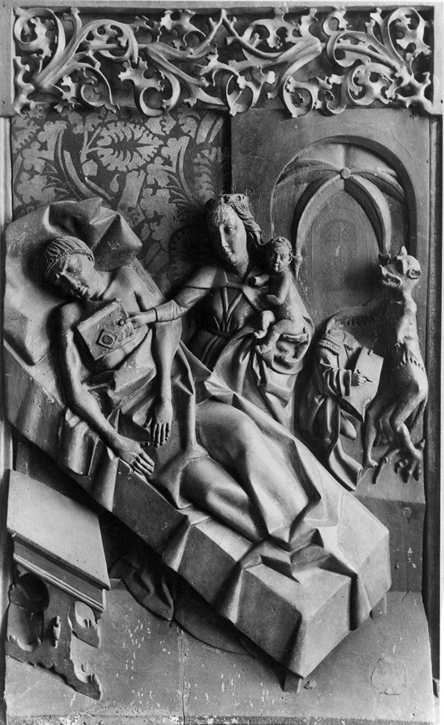 Wit Stwosz (or his studio), a fragment of the Lusina Triptych (Mary returns the pledge to St. Theophile), ca. 1500, courtesy of the State Collection of Art in Wawel, photo: kolekcje.mkidn.gov.pl