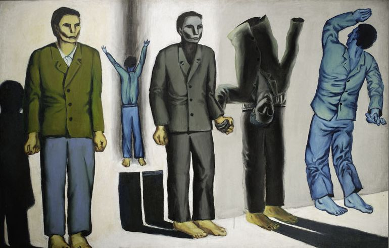 Andrzej Wróblewski, Surrealist Execution ((Execution VIII, Surrealist), oil on canvas,1949, photo: courtesy of National Museum in Warsaw