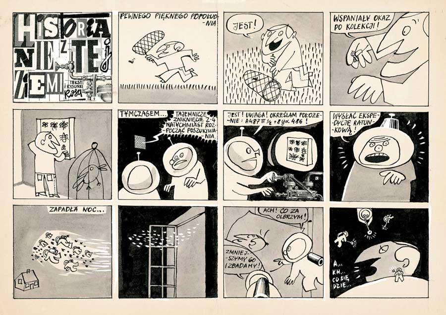 """Grzegorz Rosiński, ilustracja komiksu z serii """"Legendarna historia Polski"""", fot. Muzeum Sztuki i Techniki Japońskiej Manggha"""