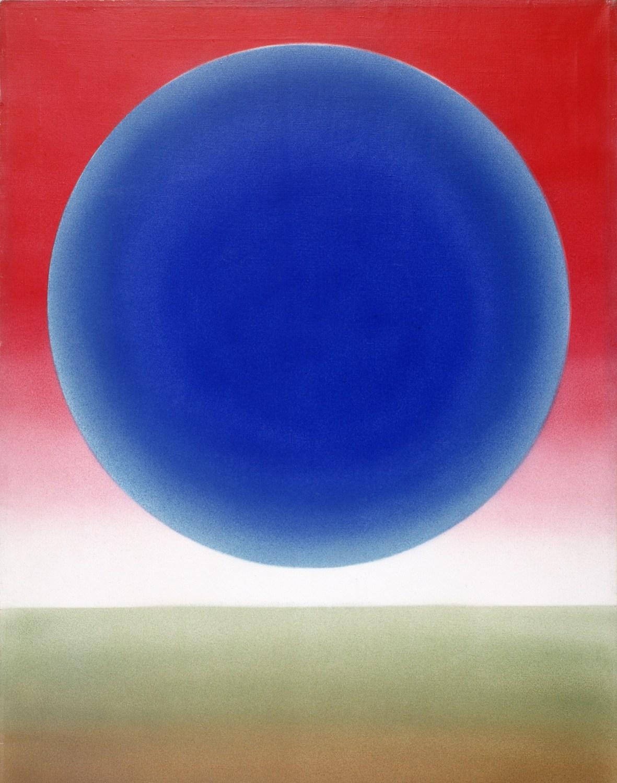Роман Артымовский, «Пейзаж XXI», акрил, холст (1978), фото: Национальная художественная галерея «Захента»