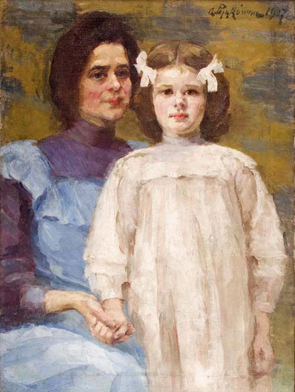 """Aniela Pająkówna, """"Autoportret z córką"""",1907,  fot. Muzeum Narodowe w Krakowie,"""